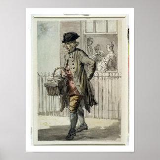 Gritos de Londres: Un hombre de mollete, c.1759 (w Póster