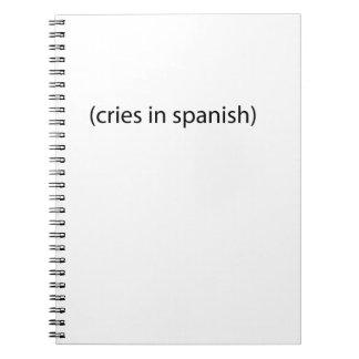 gritos en español cuadernos
