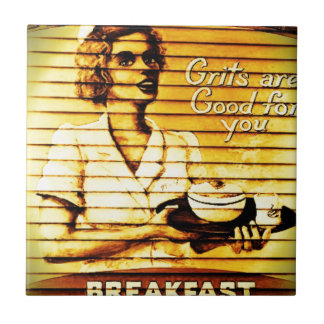 Grits are Good For You Ceramic Tile
