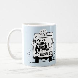 Gritting Lorry has a Driver Gritting His Teeth Coffee Mug