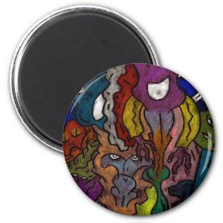 Gritty Alein Puzzle 2 Inch Round Magnet