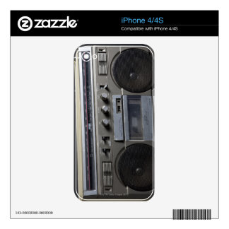 Gritty Boom Box Skins For The iPhone 4S