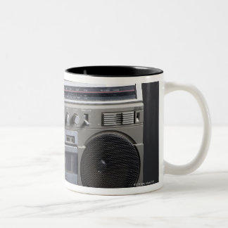 Gritty Boom Box Two-Tone Coffee Mug