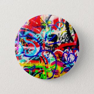 Gritty Crazy Graffiti Button