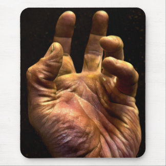 Gritty Grasping Human Hand Mouse Pad