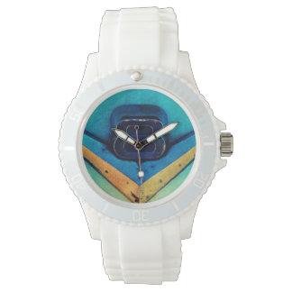 Gritty Grunge Art V8 Emblem Wristwatch