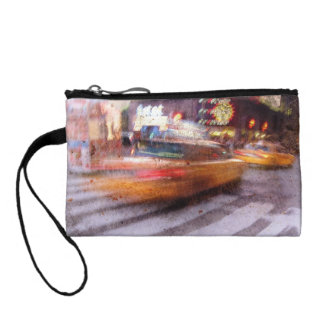 Gritty NYC Taxi Coin Wallet