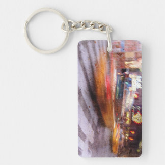 Gritty NYC Taxi Keychain