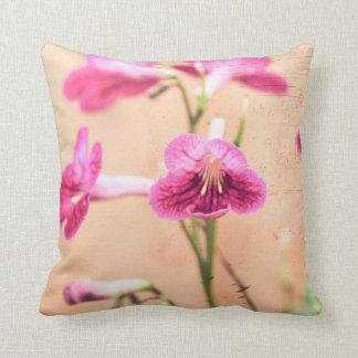 Gritty primrose throw pillow