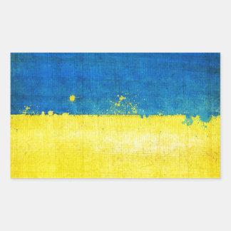 Gritty Ukraine Flag Rectangular Sticker