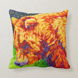 Griz - almohada amarilla del oso