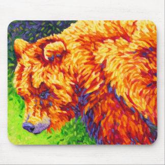 Griz - Yellow Bear Mouse Pad