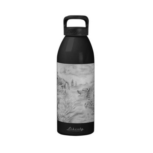 Grizz vs the pack drinking bottles