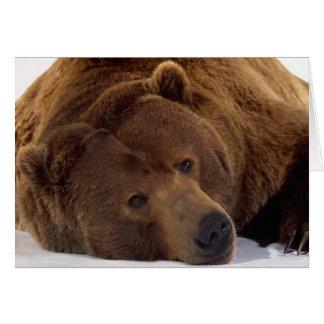 Grizzle Bear Card