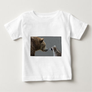 Grizzle Bear Meets Raccoon Baby T-Shirt