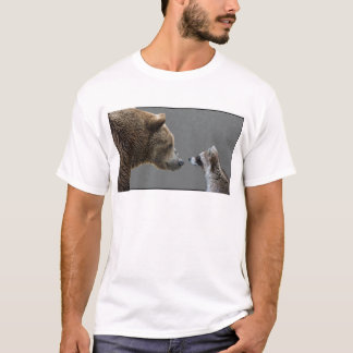 Grizzle Bear Meets Raccoon T-Shirt
