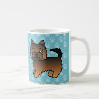 Grizzle Color Norwich Terrier Cartoon Dog Coffee Mug