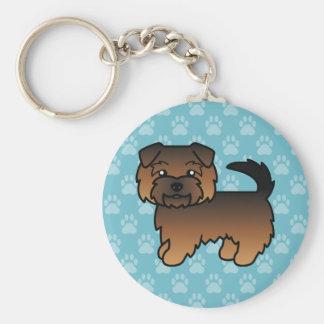 Grizzle Norfolk Terrier Keychains