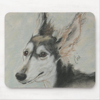 Grizzle Saluki Dog Art Mousepad