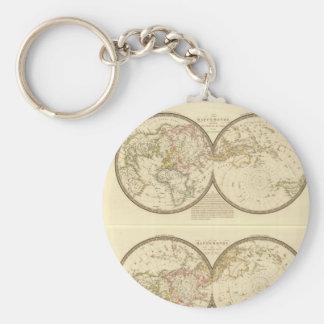 Grizzled World Map 23 Keychain