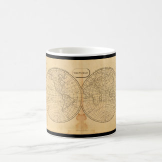 Grizzled World Map 23_Maps of Antiquity Coffee Mug