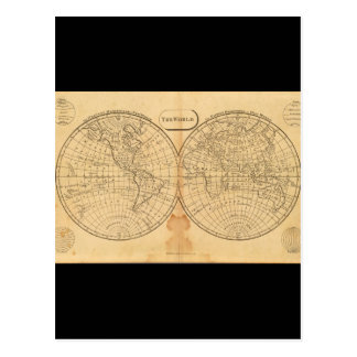 Grizzled World Map 23_Maps of Antiquity Postcard
