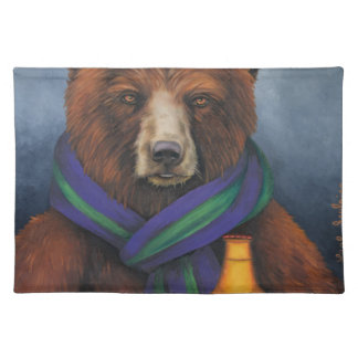 Grizzley Bear Cloth Placemat