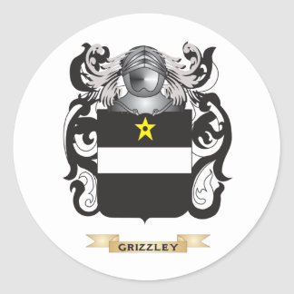 Grizzley Coat of Arms (Family Crest) Round Stickers