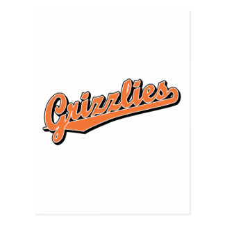 Grizzlies in Light Orange Postcard
