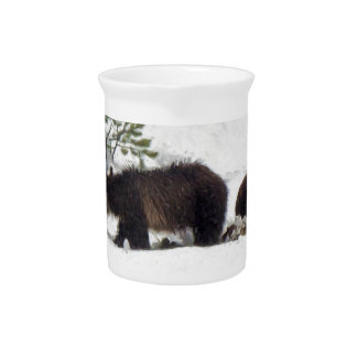 Grizzlies in the Snow Pitcher