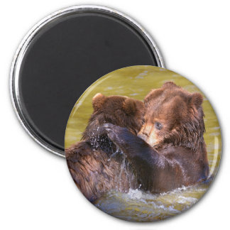 Grizzlies in the water magnet