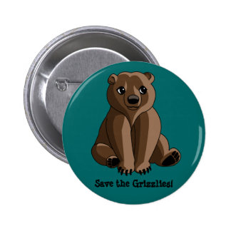 Grizzlies Pinback Button
