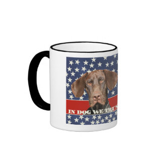 Grizzly4President, en perro confiamos en Taza De Dos Colores