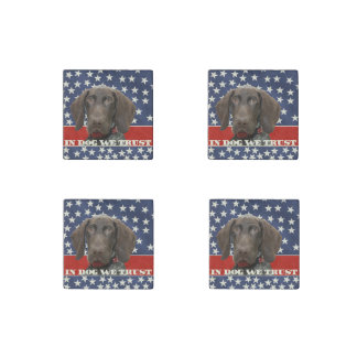 Grizzly4President, In Dog We Trust Stone Magnet