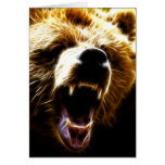 Grizzly Attack Stationery Note Card