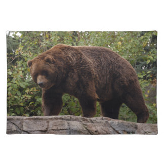 grizzly-bear-002 cloth placemat