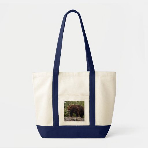 Grizzly Bear-002, Grizzly Bear Impulse Tote Bag