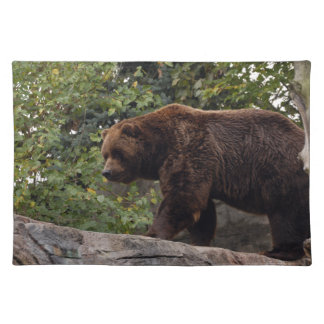 grizzly-bear-003 cloth placemat