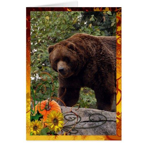 grizzly-bear-004 tarjeta de felicitación