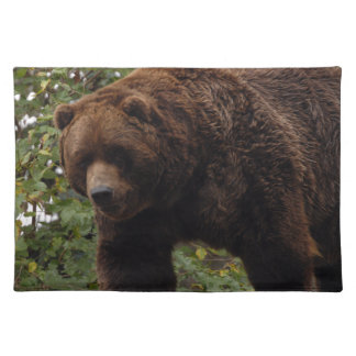 grizzly-bear-005 cloth placemat