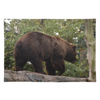 grizzly-bear-006 cloth placemat