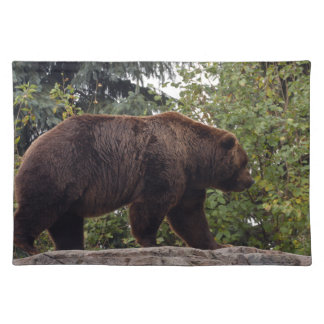 grizzly-bear-007 cloth placemat
