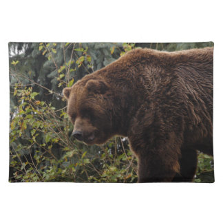 grizzly-bear-009 cloth placemat