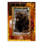 grizzly-bear-010 greeting card