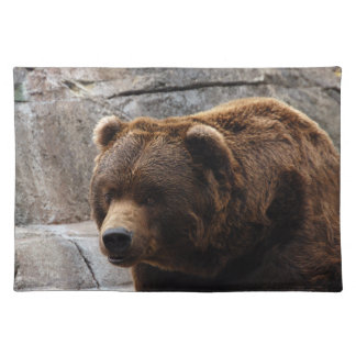 grizzly-bear-011 cloth placemat