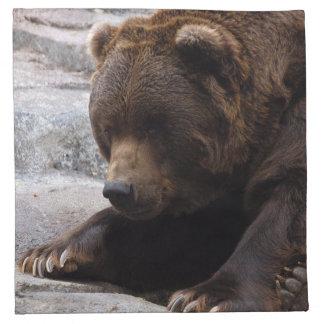 grizzly-bear-014 napkin