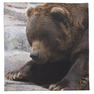 grizzly-bear-014 printed napkin