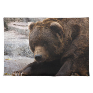 grizzly-bear-015 cloth placemat