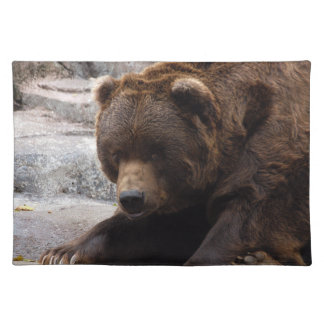 grizzly-bear-016 cloth placemat
