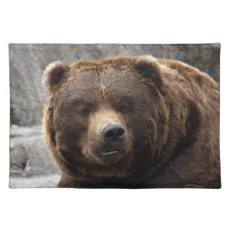 grizzly-bear-017 cloth placemat